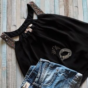 Forever 21 Embellished & Cropped Top Size S